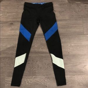 Women's Champion Black/Blue Workout Leggings